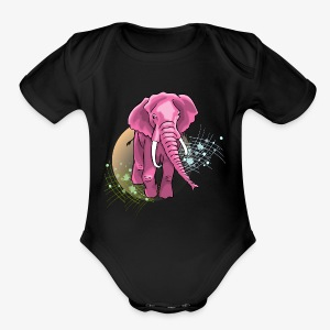 La vie en rose - Short Sleeve Baby Bodysuit