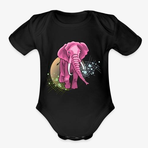 La vie en rose - Organic Short Sleeve Baby Bodysuit