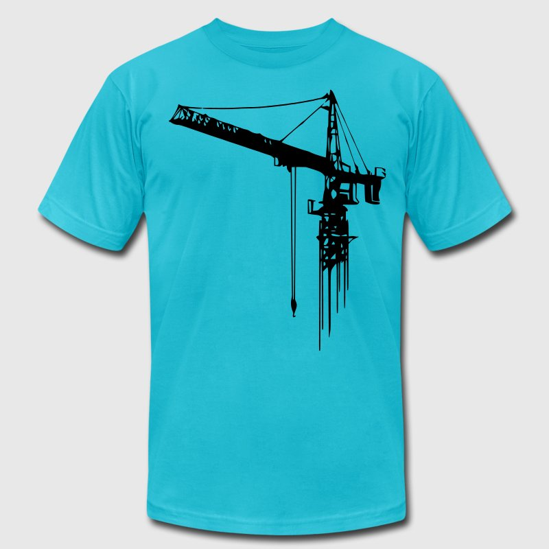 tower crane (1 color) T-Shirts - Men's T-Shirt by American Apparel