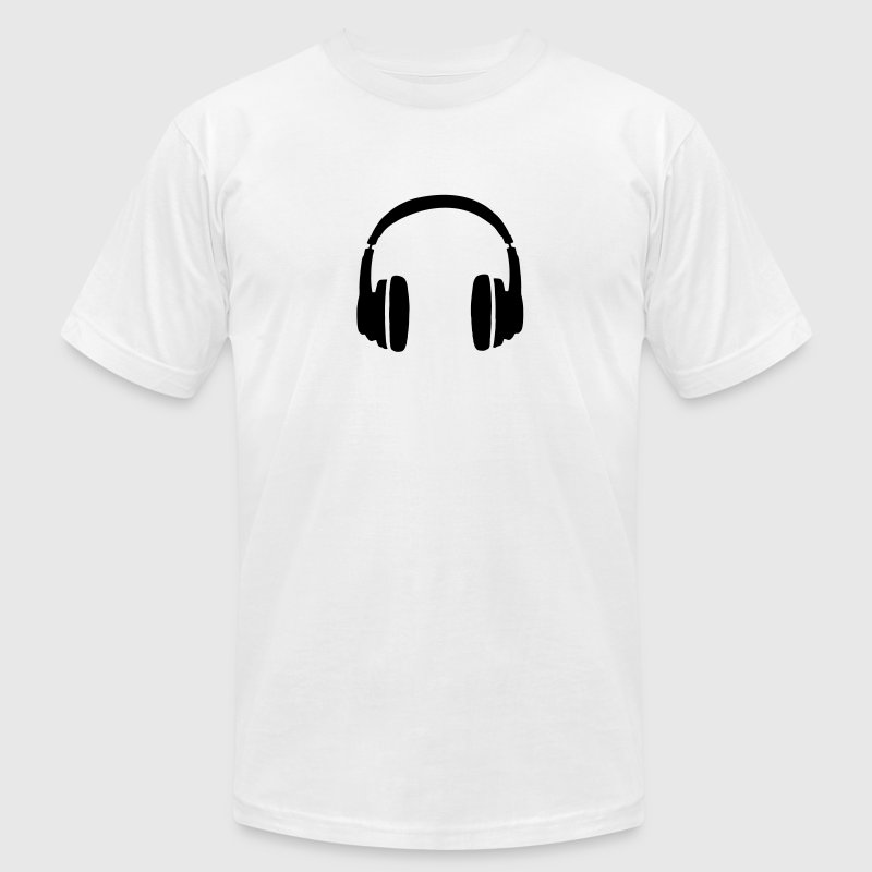 DJ T-Shirt with Headphones - Men's T-Shirt by American Apparel