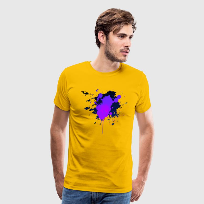 Color Splatter T-Shirts - Men's Premium T-Shirt