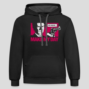 Dirty Harry: Make my day - Contrast Hoodie