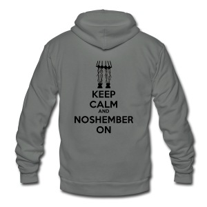 Chick's Keep Calm Shirt - womens - Unisex Fleece Zip Hoodie by American Apparel