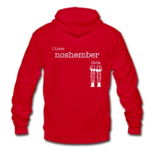 I Love Noshember Girls, Men's Tee - Unisex Fleece Zip Hoodie by American Apparel