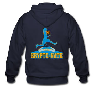 Krypto-Nate - Mens T-Shirt - Men's Zip Hoodie