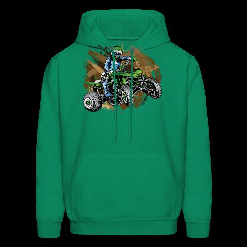 Green ATV Mudding - Men's Hoodie