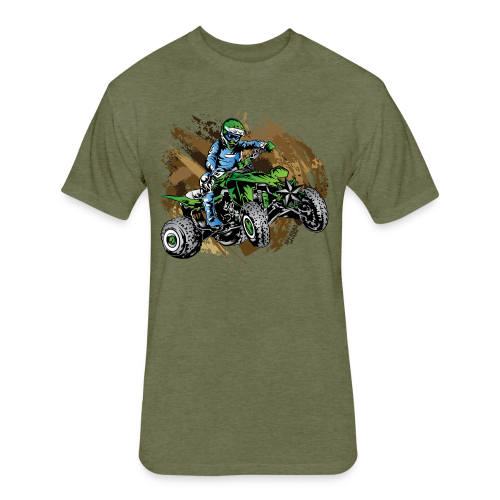 Green ATV Mudding - Fitted Cotton/Poly T-Shirt by Next Level