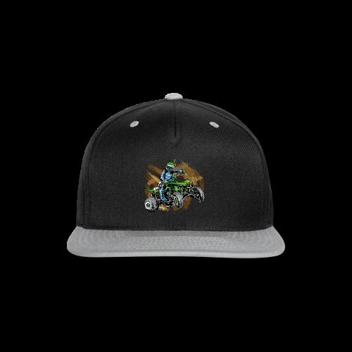 Green ATV Mudding - Snap-back Baseball Cap
