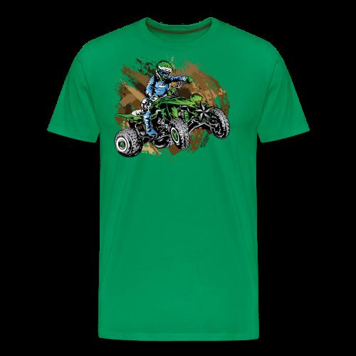 Green ATV Mudding - Men's Premium T-Shirt