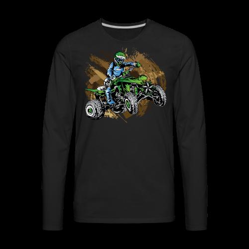 Green ATV Mudding - Men's Premium Long Sleeve T-Shirt
