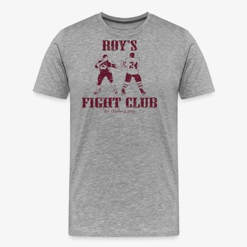 Roy's Fight Club - Burgundy - Mens T-Shirt - Men's Premium T-Shirt