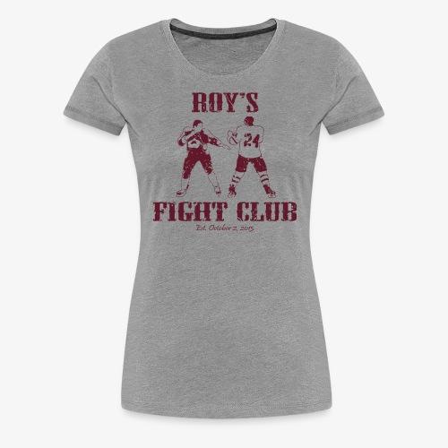 Roy's Fight Club - Burgundy - Mens T-Shirt - Women's Premium T-Shirt