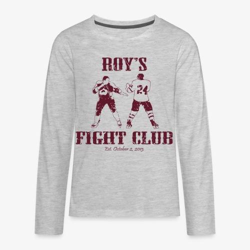 Roy's Fight Club - Burgundy - Mens T-Shirt - Kids' Premium Long Sleeve T-Shirt