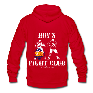 Roy's Fight Club - Hoodie - Unisex Fleece Zip Hoodie by American Apparel