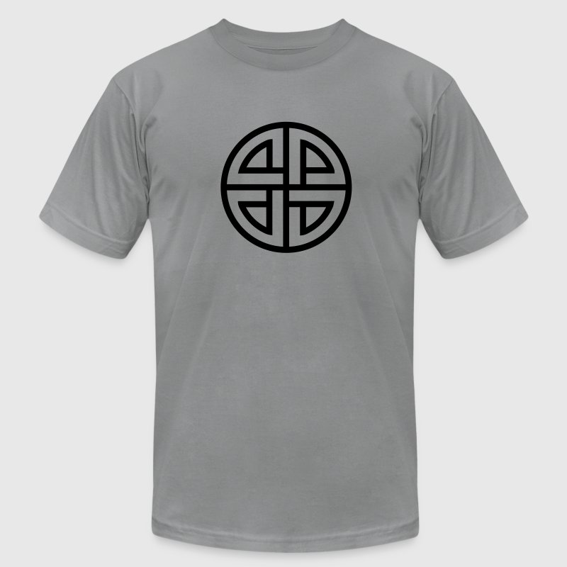 Celtic Shield Knot, Protection, Four Corner, Norse T-Shirts - Men's T-Shirt by American Apparel