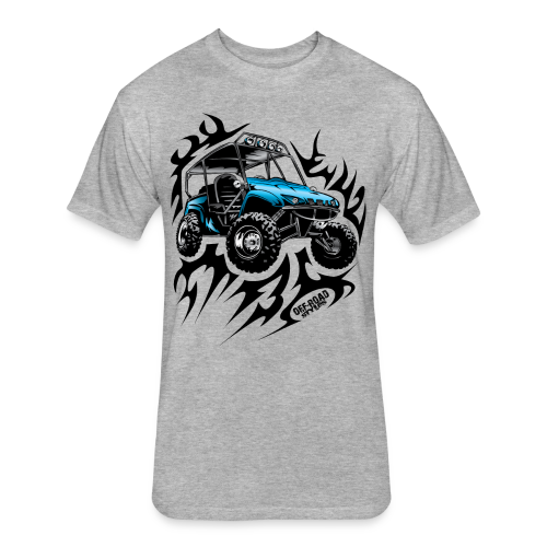 Flaming Blue UTV - Fitted Cotton/Poly T-Shirt by Next Level