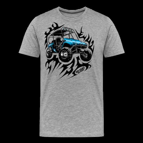Flaming Blue UTV - Men's Premium T-Shirt