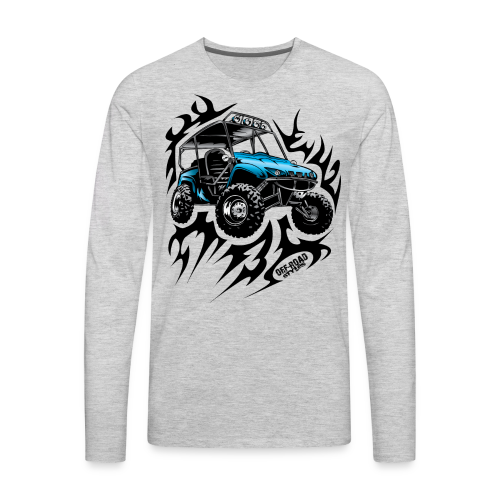 Flaming Blue UTV - Men's Premium Long Sleeve T-Shirt