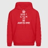 Keep calm and be awesome Hoodies - Men's Hoodie