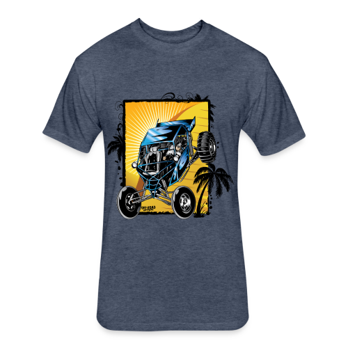 Blue Downhill Dune Buggy - Fitted Cotton/Poly T-Shirt by Next Level