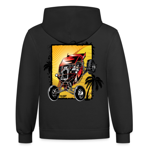 Red Downhill Dune Buggy - Contrast Hoodie