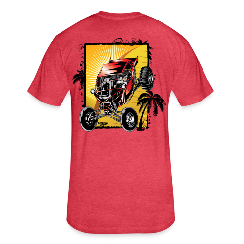 Red Downhill Dune Buggy - Fitted Cotton/Poly T-Shirt by Next Level
