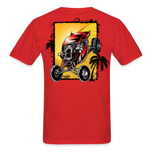 Red Downhill Dune Buggy - Men's T-Shirt