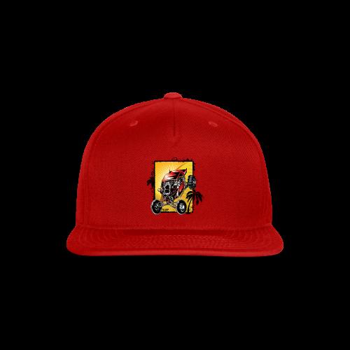 Red Downhill Dune Buggy - Snap-back Baseball Cap