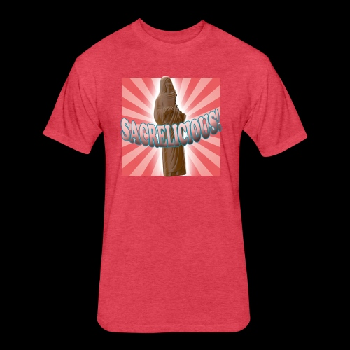Fitted Cotton/Poly T-Shirt by Next Level - Sacrelicious - www.TedsThreads.co Easter is sacrelicious!