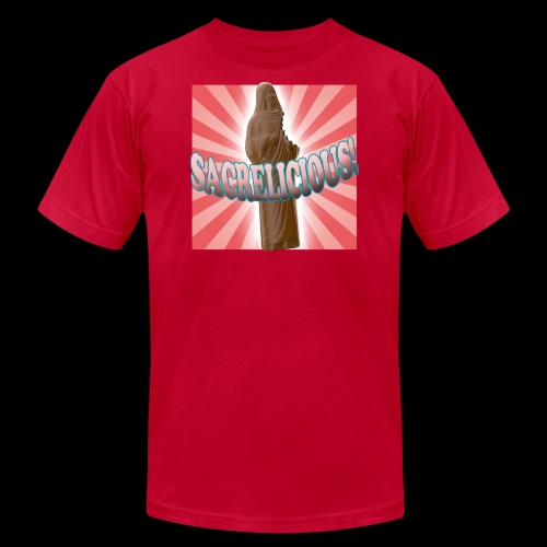 Men's Fine Jersey T-Shirt - Sacrelicious - www.TedsThreads.co Easter is sacrelicious!