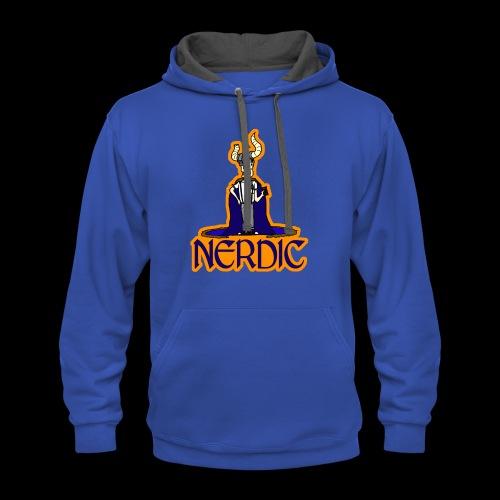 Nerdic Warrior - www.TedsThreads.co - Contrast Hoodie