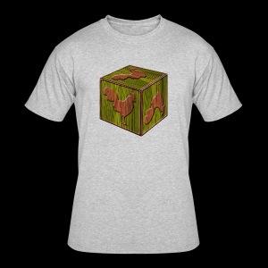 Rooster Block - www.TedsThreads.co - Men's 50/50 T-Shirt