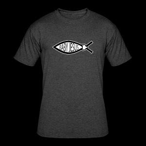 Baby Jesus Fish - www.TedsThreads.co - Men's 50/50 T-Shirt