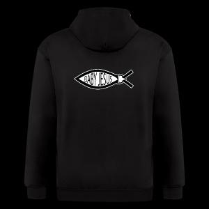 Baby Jesus Fish - www.TedsThreads.co - Men's Zip Hoodie