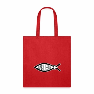 Baby Jesus Fish - www.TedsThreads.co - Tote Bag