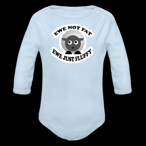Ewe Not Fat - www.TedsThreads.co - Long Sleeve Baby Bodysuit