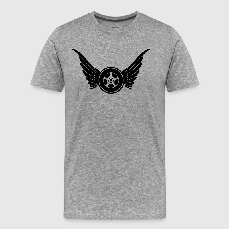 tire with wings T-Shirts - Men's Premium T-Shirt