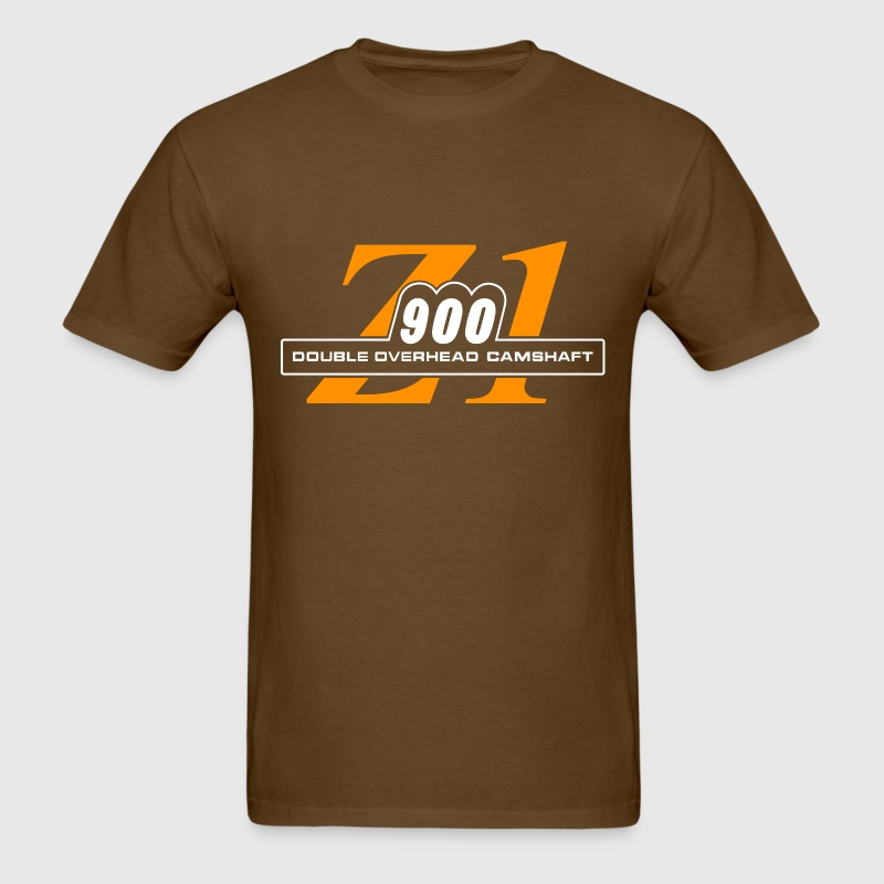 Z1 900 shirt Rootbeer & Orange | Motorcycleshirts - Men's T-Shirt