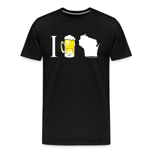 I Beer WI (Digital Print) - Men's Premium T-Shirt