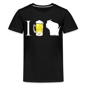 I Beer WI (Digital Print) - Kids' Premium T-Shirt