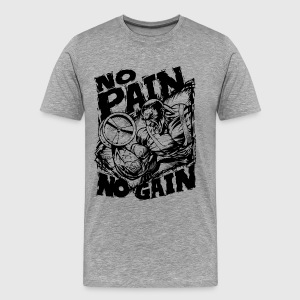 Funny Gym Shirt - No Pain No Gain T-Shirts - Men's Premium T-Shirt