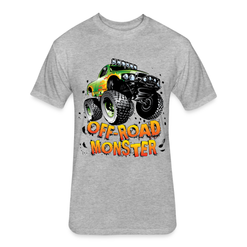 Off-Road Monster Truck - Fitted Cotton/Poly T-Shirt by Next Level