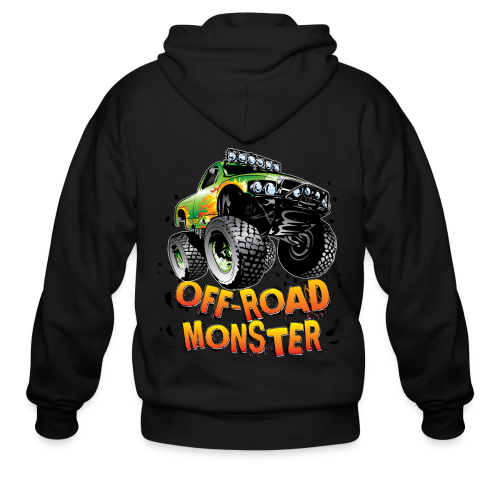 Off-Road Monster Truck - Men's Zip Hoodie