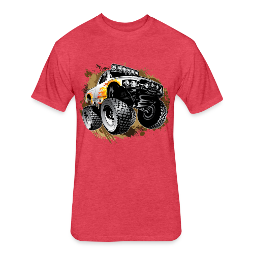 Monster Mudding Truck - Fitted Cotton/Poly T-Shirt by Next Level
