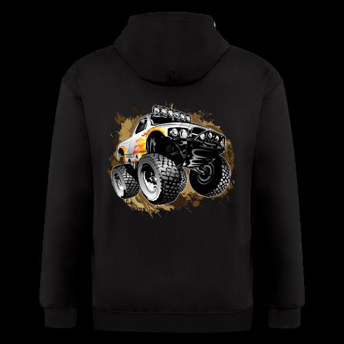 Monster Mudding Truck - Men's Zip Hoodie