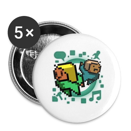 Manymug - Buttons large 2.2'' (5-pack)