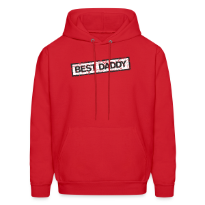 Best Daddy T-Shirt (Red) - Men's Hoodie