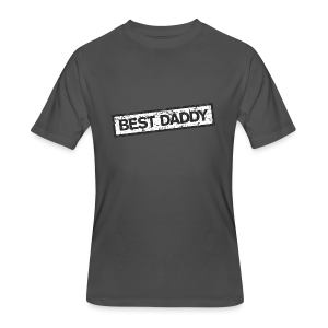 Best Daddy T-Shirt (Red) - Men's 50/50 T-Shirt
