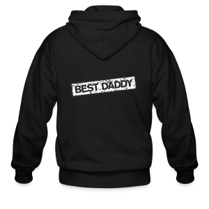 Best Daddy T-Shirt (Red) - Men's Zip Hoodie