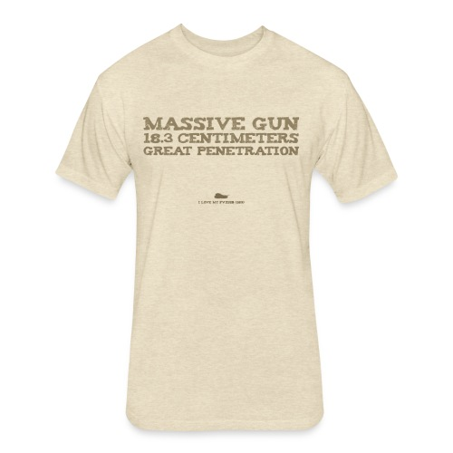 Massive Gun - Fitted Cotton/Poly T-Shirt by Next Level